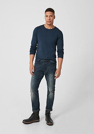 Basic-Langarmshirt aus Jersey