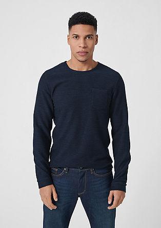 Langarmshirt mit Struktur
