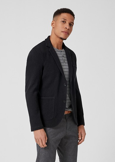 Double-faced jersey sports jacket from s.Oliver