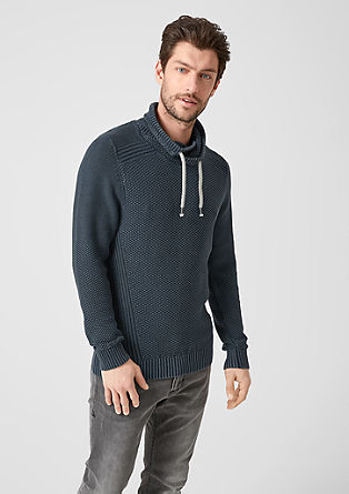 Textured knit jumper with a turtleneck from s.Oliver