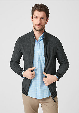 Cardigan with a stand-up collar from s.Oliver