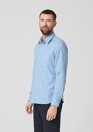 Regular: overhemd met stretch