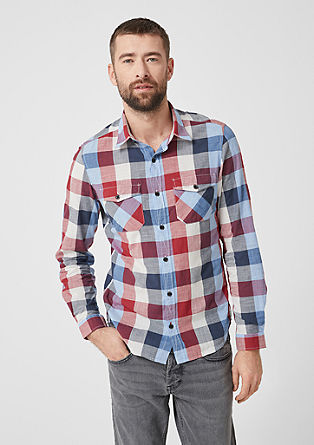 Slim Fit: Check shirt from s.Oliver