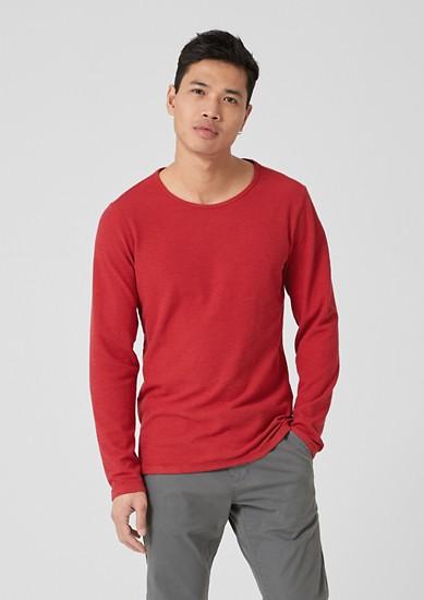 Tričko s dlouhým rukávem z piké s vaflovou strukturou