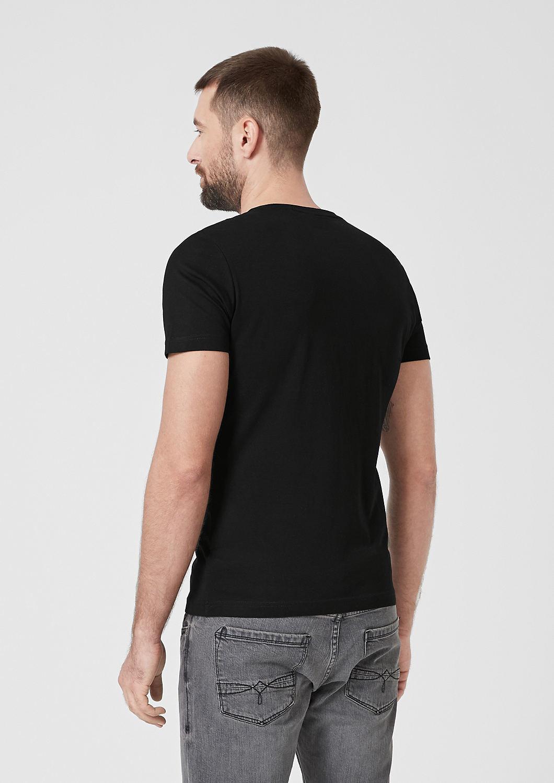 s.Oliver - Slim: T-shirt en jersey animé d'une inscription - 3