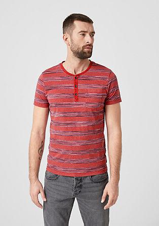 Henleyshirt mit Streifen