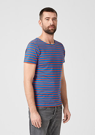 Slim: Striped cotton top from s.Oliver