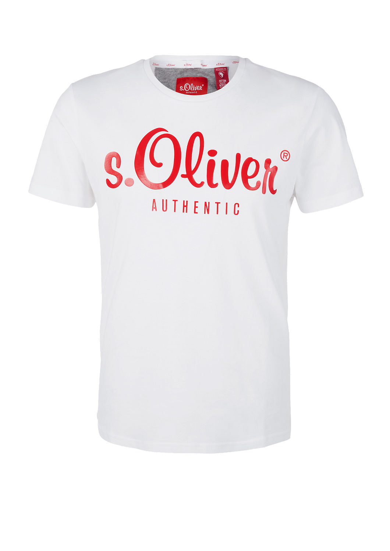 s.Oliver - T-Shirt mit Label-Print - 4