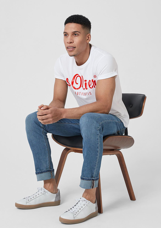 s.Oliver - T-Shirt mit Label-Print - 2
