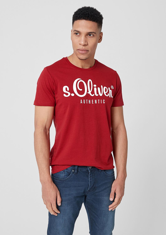 s.Oliver - T-Shirt mit Label-Print - 1