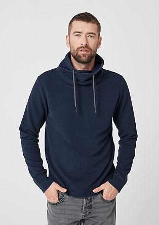 Gestructureerd sweatshirt met turtleneck