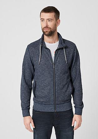 Melirana sweatshirt jopa s stoječim ovratnikom
