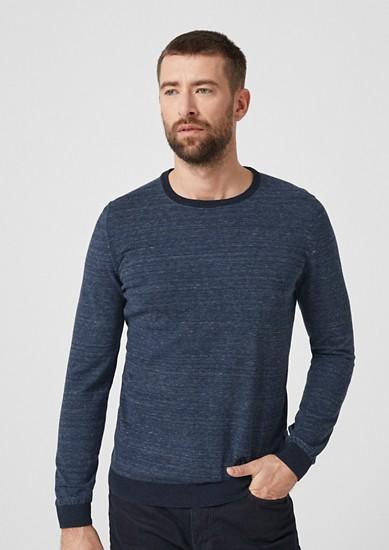 Pullover mit Melange-Ringeln