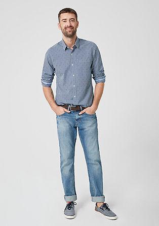 Regular: overhemd met motiefmix