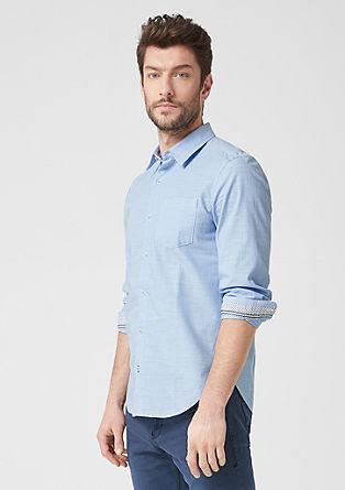 Slim: striped cotton shirt from s.Oliver