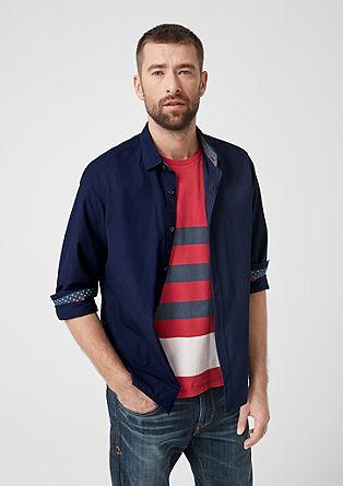 Slim: Garment Dye-Baumwollhemd