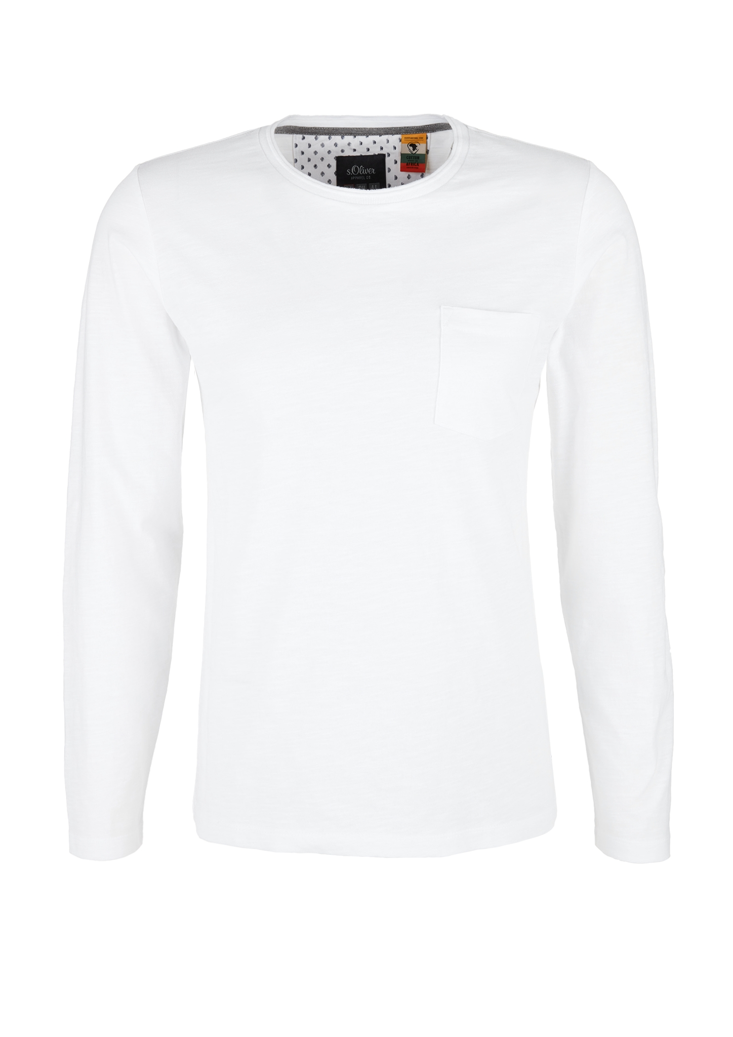 Langarmshirt | Bekleidung > Shirts > Langarm Shirts | Weiß | 100% baumwolle | s.Oliver