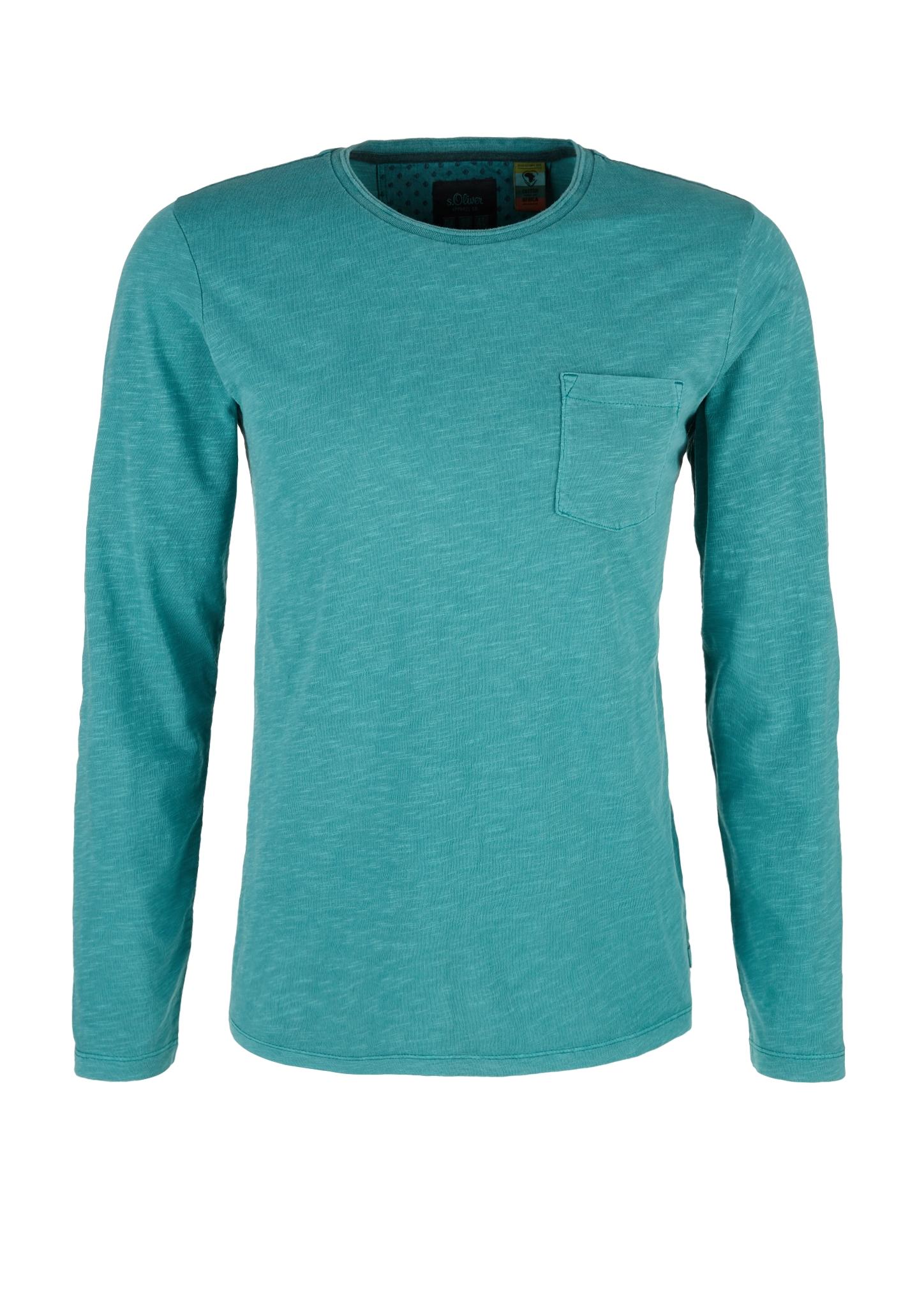 Langarmshirt | Bekleidung > Shirts > Langarm Shirts | Petrol | turquoise | 100% baumwolle | s.Oliver