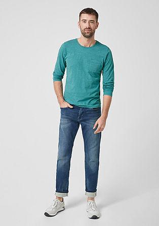 T-shirt à manches longues aux effets du fil flammé de s.Oliver