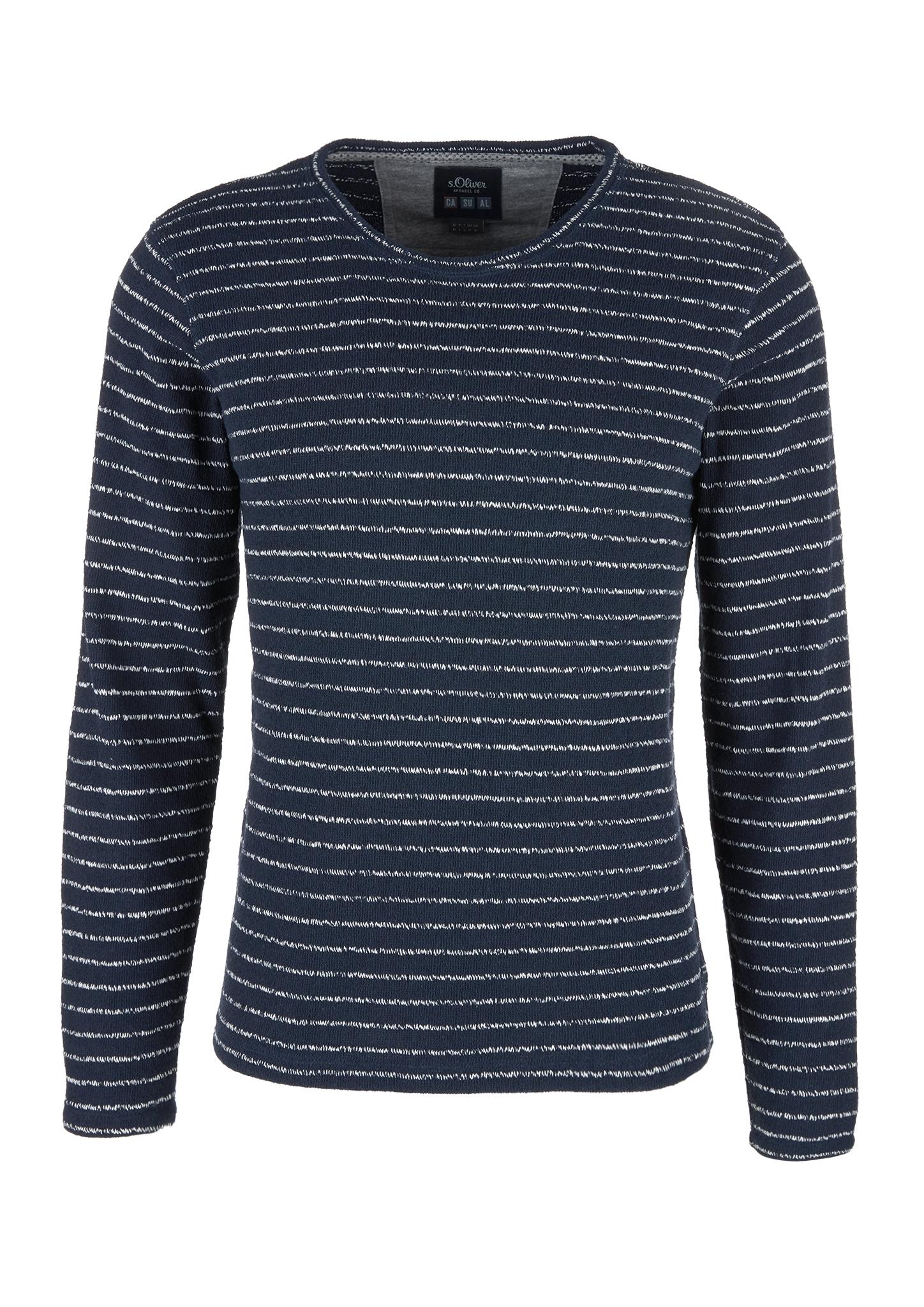 Langarmshirt | Bekleidung > Shirts > Langarm Shirts | Blau | 40% baumwolle -  40% polyester -  20% polyacryl | s.Oliver