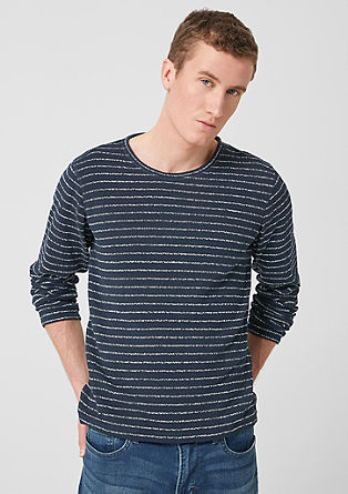 Slim: Knit jumper with stripes from s.Oliver