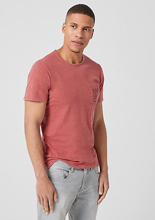 Slim: Slub yarn top with a breast pocket from s.Oliver