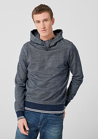 Textured hooded sweatshirt from s.Oliver