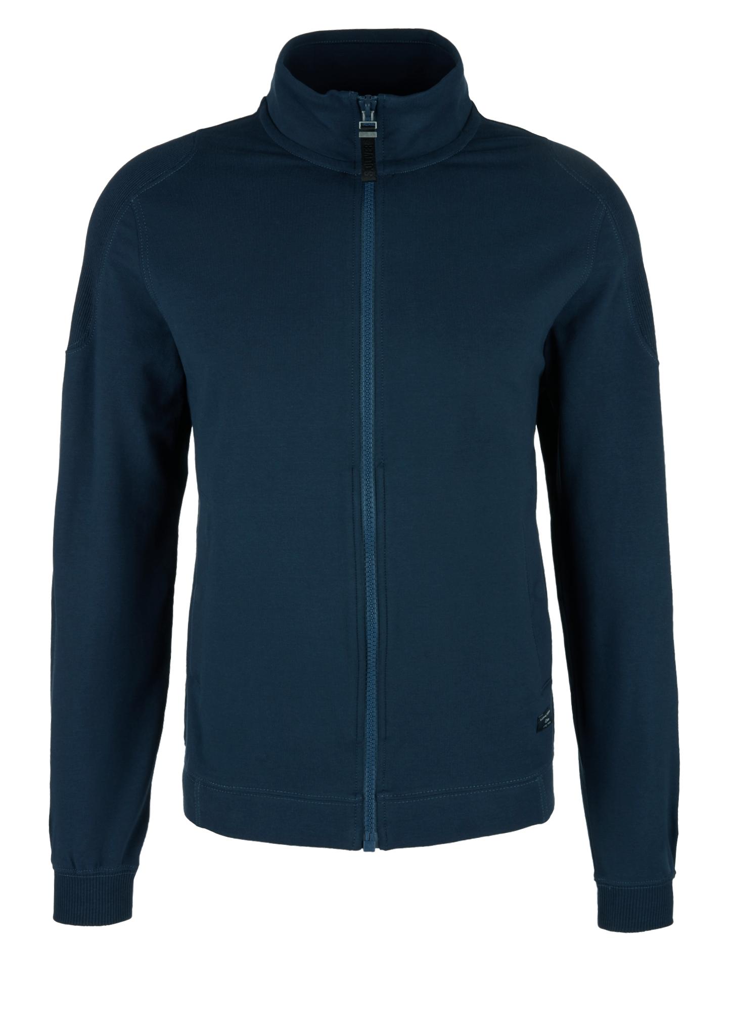 Sweatjacke | Bekleidung > Sweatshirts & -jacken | Blau | 95% baumwolle -  5% elasthan | s.Oliver