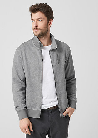Sweatshirt jacket with a stand-up collar from s.Oliver