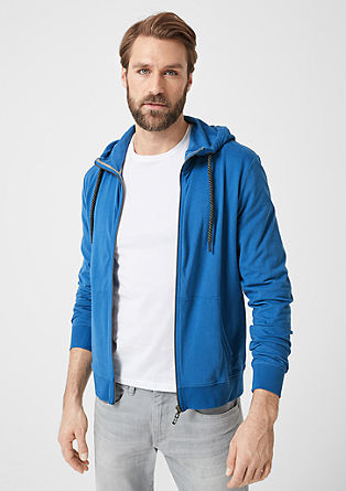 Soft hooded sweatshirt jacket from s.Oliver