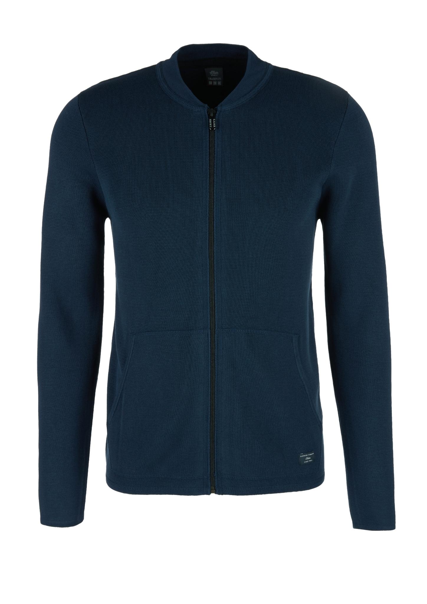 Strickjacke | Bekleidung > Strickjacken & Cardigans | Blau | 65% viskose -  35% bambus | s.Oliver