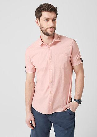 Regular: overhemd met gestructureerd motief