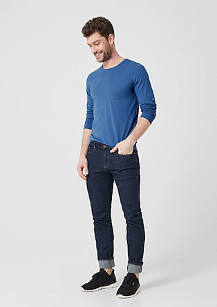 Slim: Longsleeve aus Baumwoll-Jersey