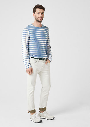 Slim: proužkované tričko s dlouhým rukávem