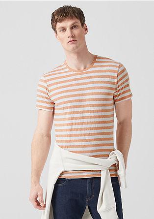 Gestreept gemêleerd shirt