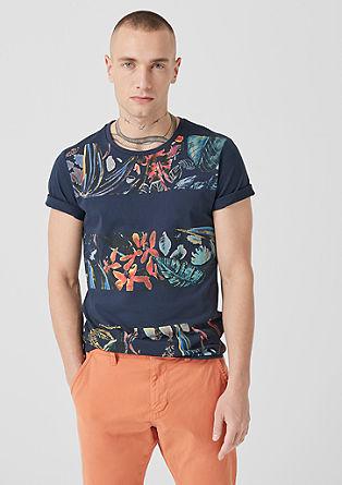 Slim: T-shirt met print op de voorkant
