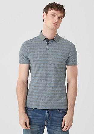 Slim: Poloshirt mit Streifen