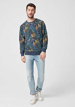 Sweatshirt with a kangaroo pocket from s.Oliver