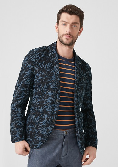 Canvas jacket with an all-over print from s.Oliver