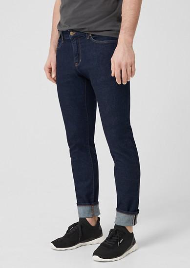 Stick slim:jeans met contrastnaden
