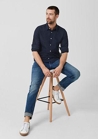 Slim: chemise en lin mélangé de s.Oliver