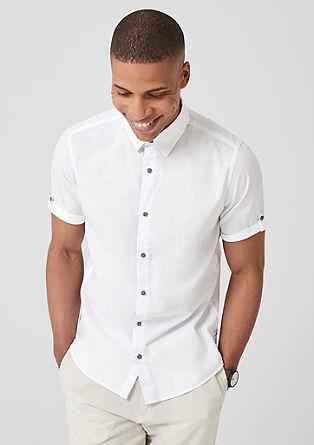 Slim: srajca s kratkimi rokavi s teksturo