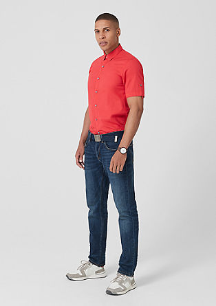 Slim: Textured short sleeve shirt from s.Oliver