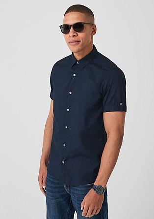 Slim: Strukturiertes Kurzarmhemd