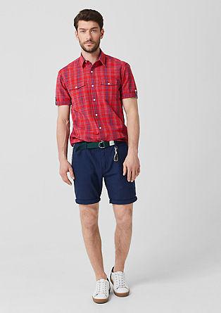 Regular:geruit overhemd met korte mouwen