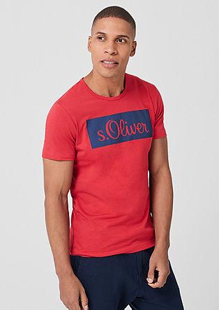 Slim: Labelshirt aus Jersey