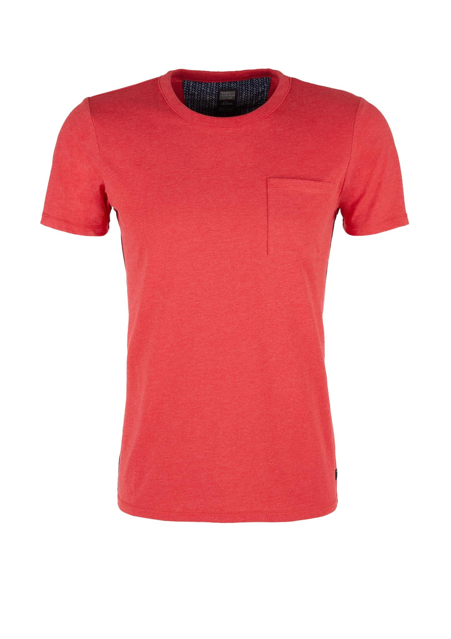 Melange-Shirt | Bekleidung > Shirts > Sonstige Shirts | Rot | 60% baumwolle -  40% polyester | s.Oliver