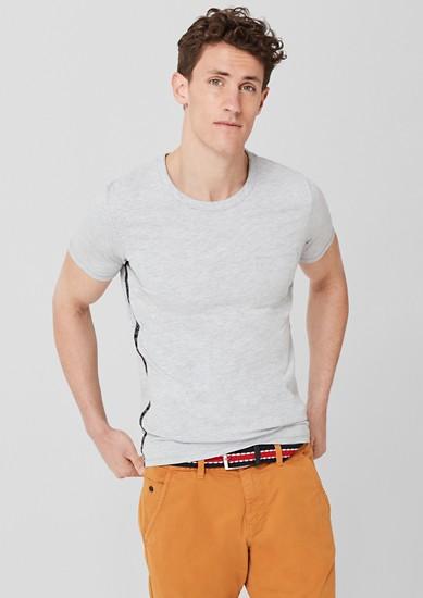 T-Shirt mit Tape-Streifen