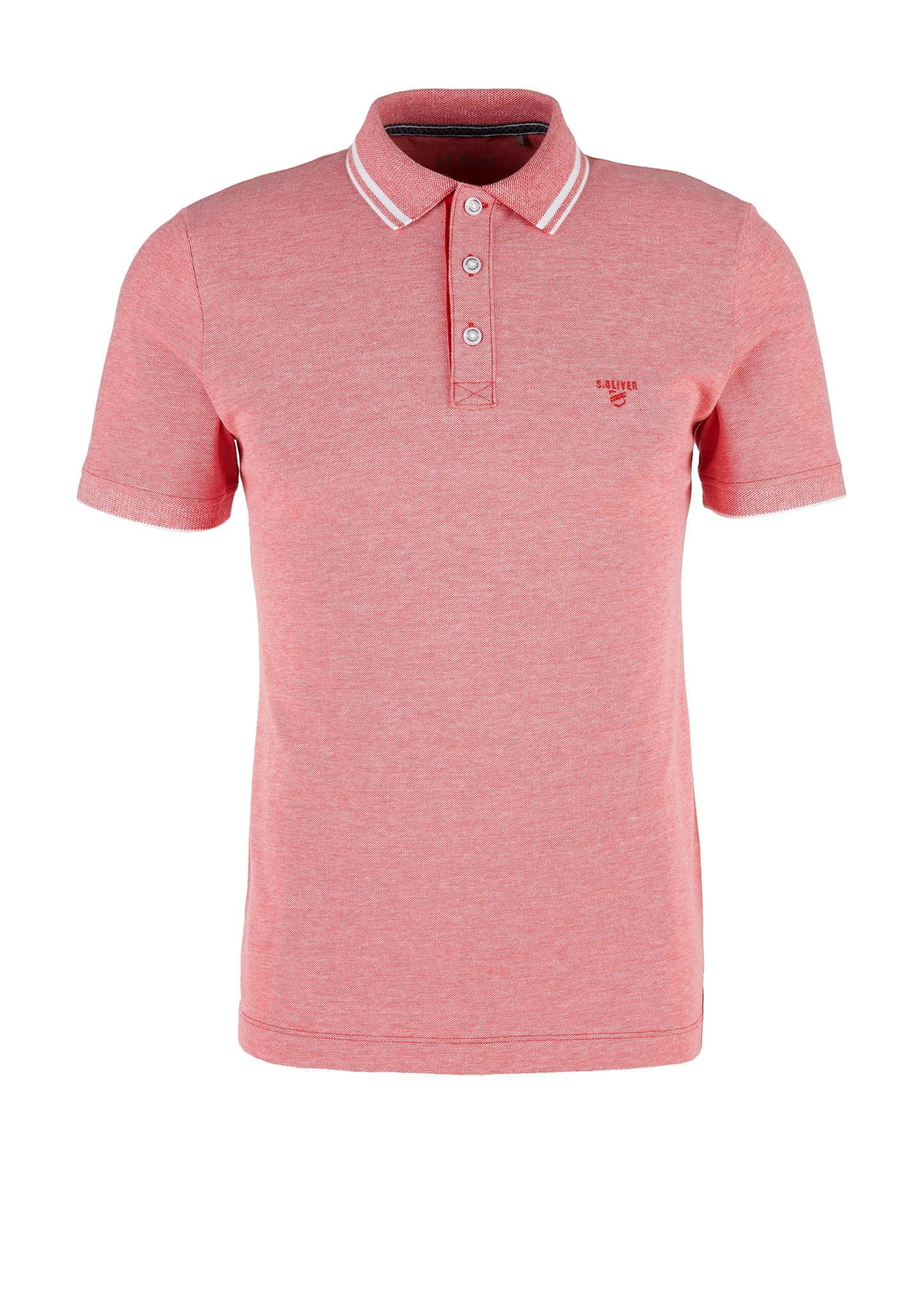 Melange-Poloshirt   Bekleidung > Polo Shirts > Langarm   s.Oliver