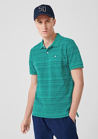 Polo majica z vzorčastim potiskom